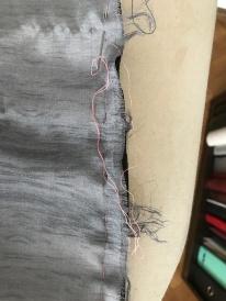 6. Réassembler les coutures couture, faufiler